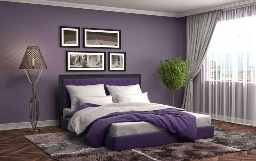 Lavender purple bedroom - relaxing colors