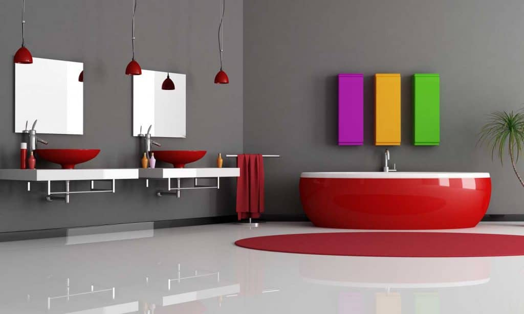 27 Red And Gray Bathroom Ideas That