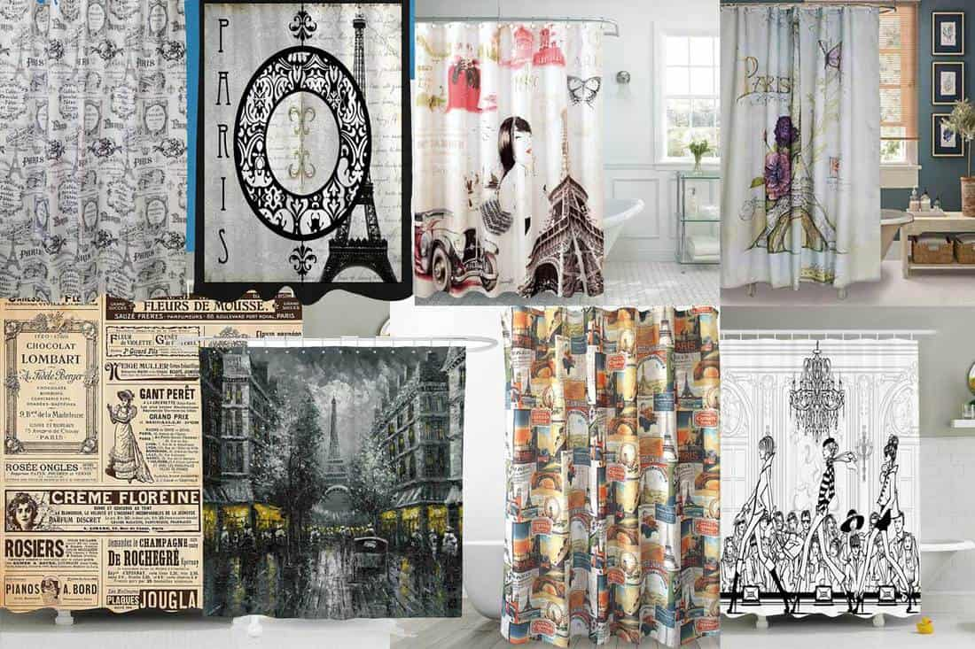 25 Paris Themed Shower Curtains That Will Add French Chic To