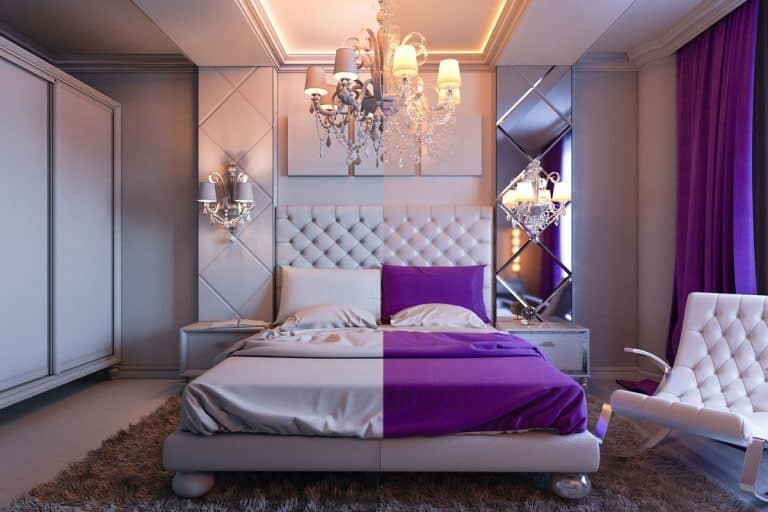 37 Purple and White Bedroom Ideas (With Pictures!)