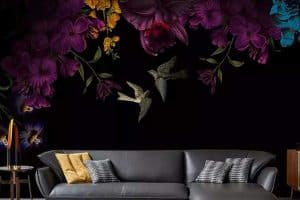 Black Floral Wallpaper Ideas for Your Home