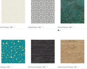 Jonathan Adler website product page for wallpapers