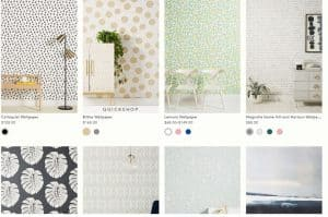 Anthropologie website product page for wallpapers