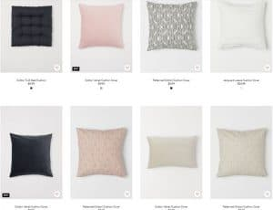 H&M Home website product page