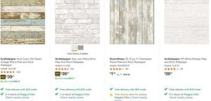 Home Decor website product page for wallpapers