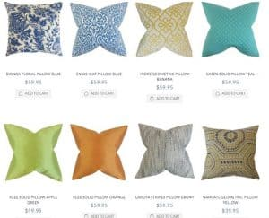 The Pillow Collection website product page