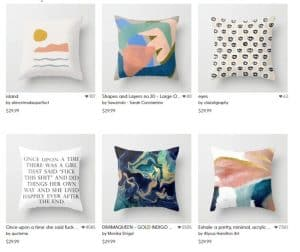 Society 6 website product page