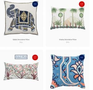 John Robshaw Textiles website product page