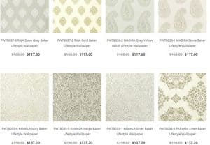 Source 4 Interiors website product page for wallpapers
