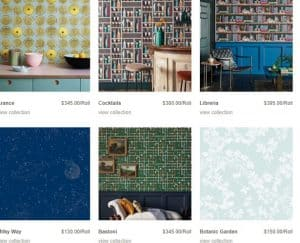 Annandale Wallpaper website product page for wallpapers