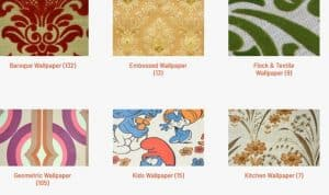 Vintage Wallpaper website product page for wallpapers