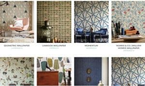 Silk Interiors website product page for wallpapers