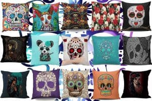 14 Sugar Skull Throw Pillows For That Perfect Day of the Dead Look