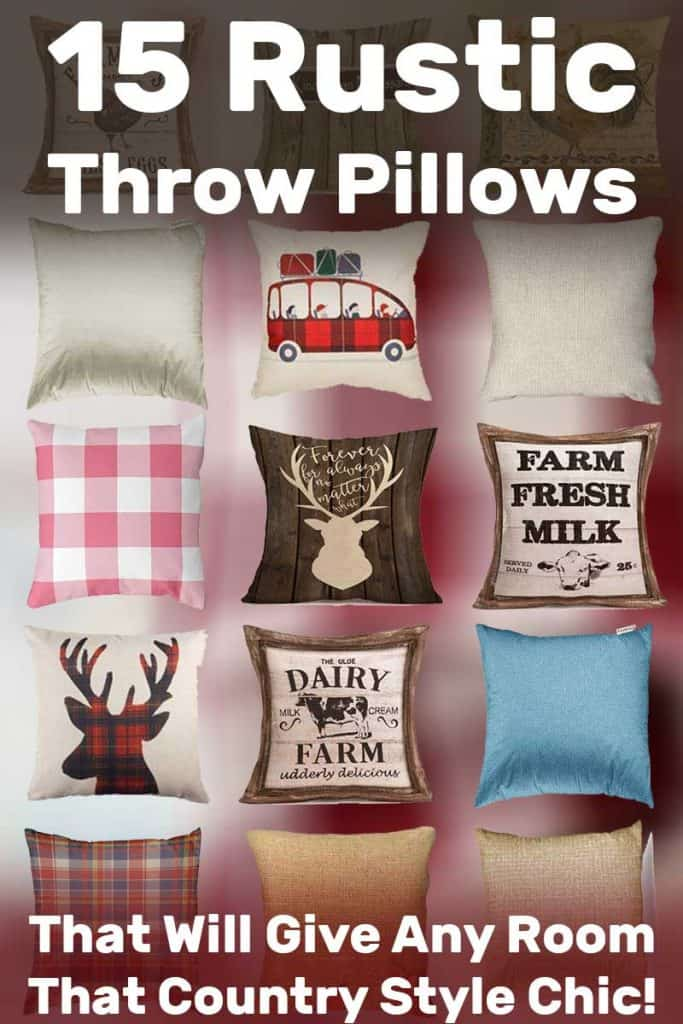 15 Rustic Throw Pillows That Will Give Any Room That Country Style Chic