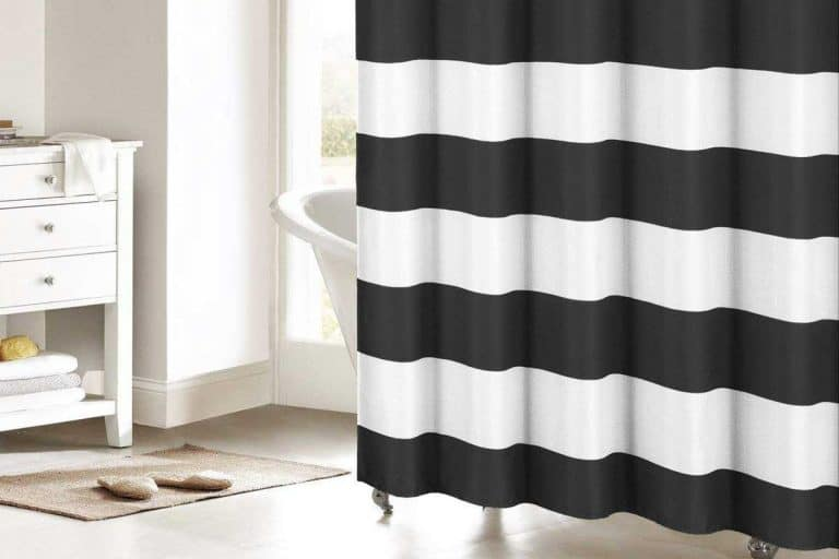 15 Black and White Striped Shower Curtains That Will Revitalize Your Bathroom