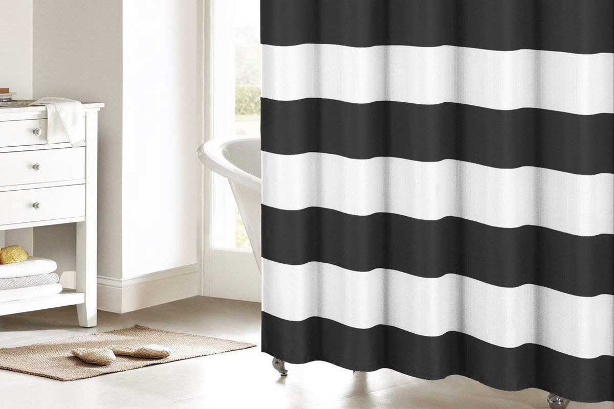 15 Black And White Striped Shower Curtains