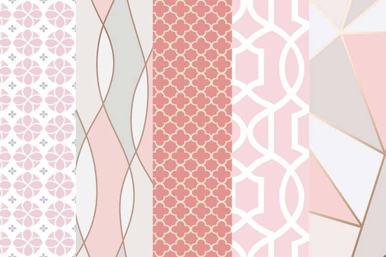 How to decorate a room with Pink Geometric Wallpaper (Including Images and shopping links)