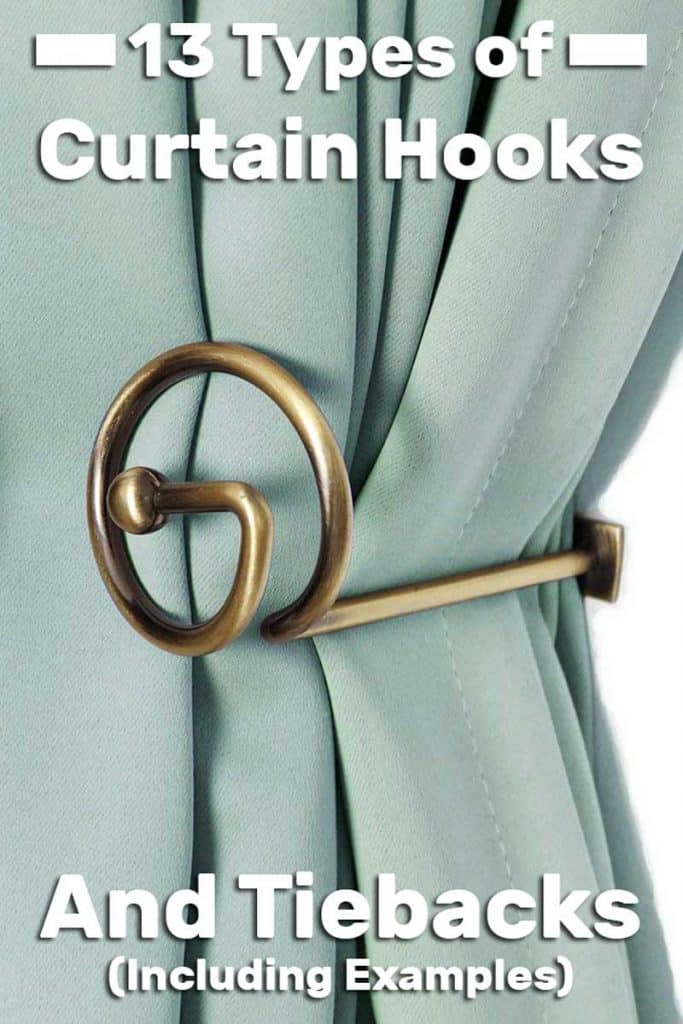 13 Types Of Curtain Hooks And Tiebacks