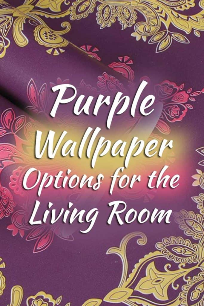 15 Purple Wallpaper Options For The Living Room You Should Check Out