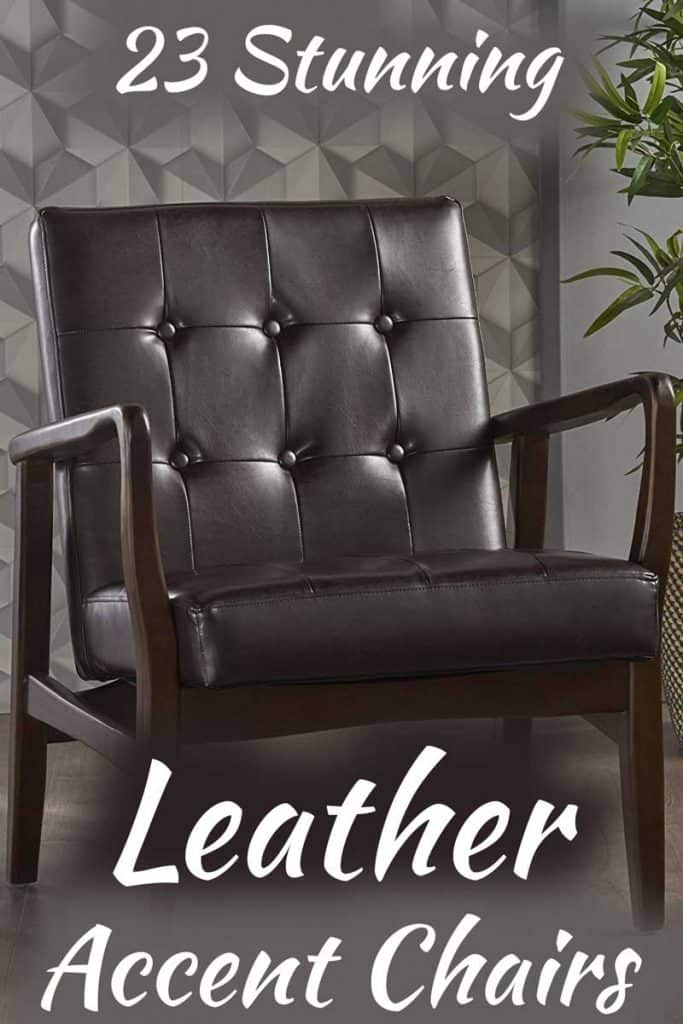 23 Stunning Leather Accent Chairs You Need To See Right Now