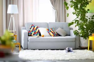How to Decorate a Gray Couch (Throw Pillows and More)