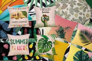 15 Tropical Throw Pillows That Will Keep Your Guests Talking