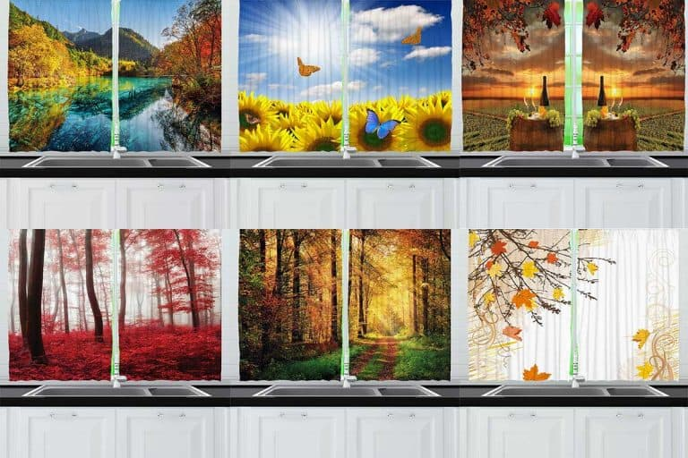 19 Best Fall-Themed Kitchen Curtains (MUST-SEE designs)