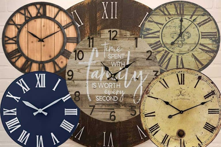 19 Round Wooden Wall Clocks That Will Add Charm To Any Room