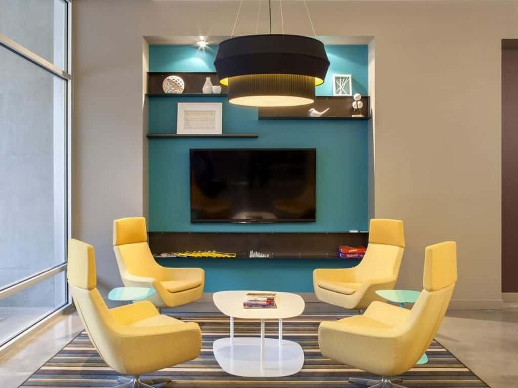 Teal and Yellow Living Room Ideas | Article by HomeDecorBliss.com