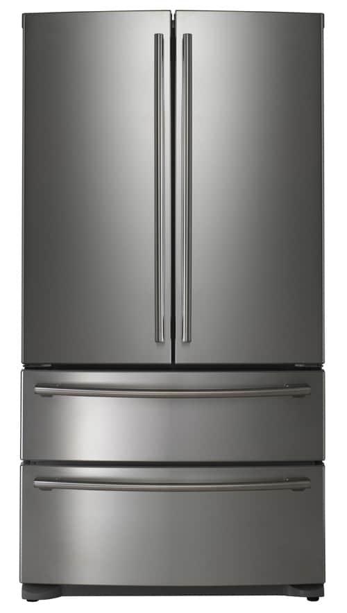 Black stainless steel fridge