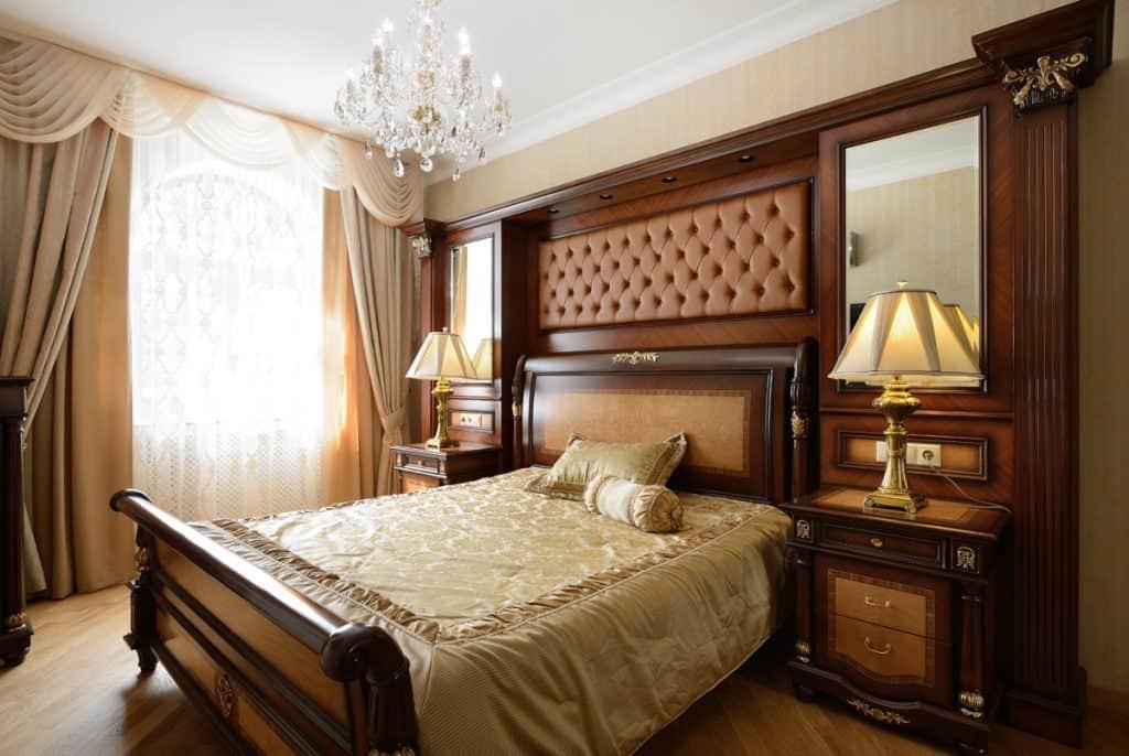 Brass bedside table