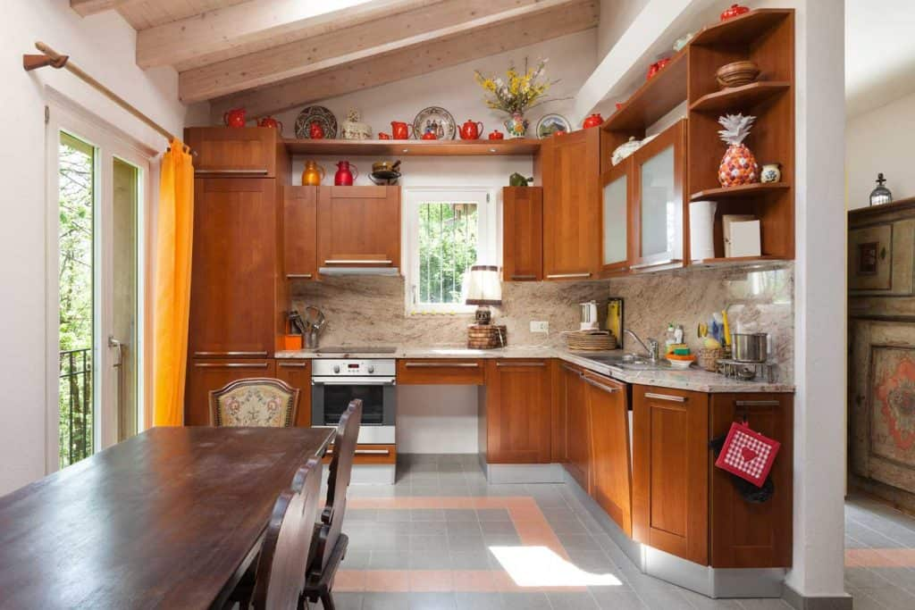 Full-sized rustic kitchen in a country house