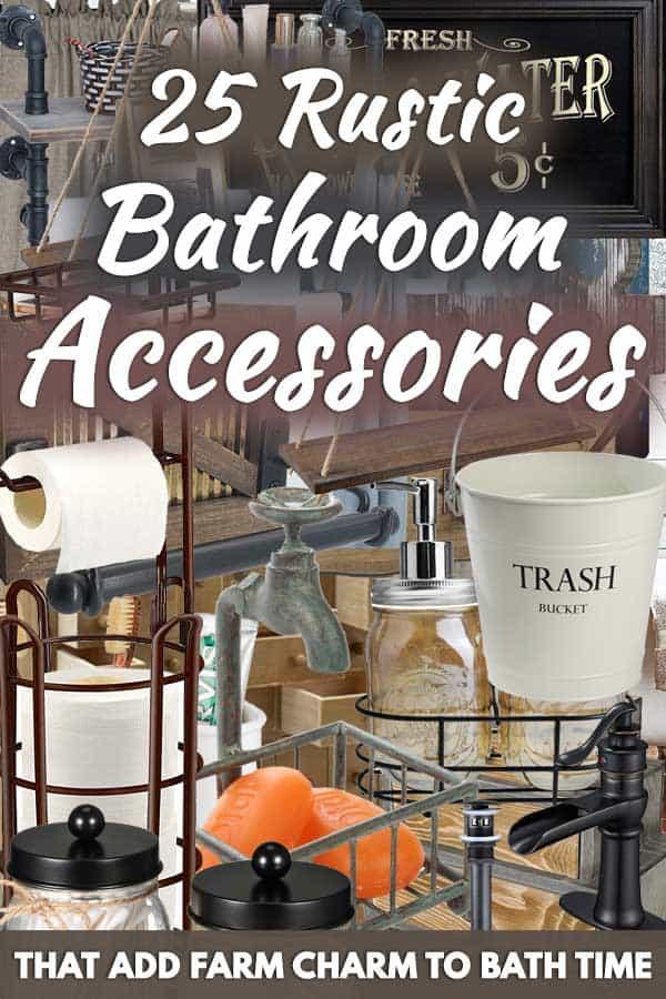 25 Rustic Bathroom Accessories That Add Farm Charm to Bath Time