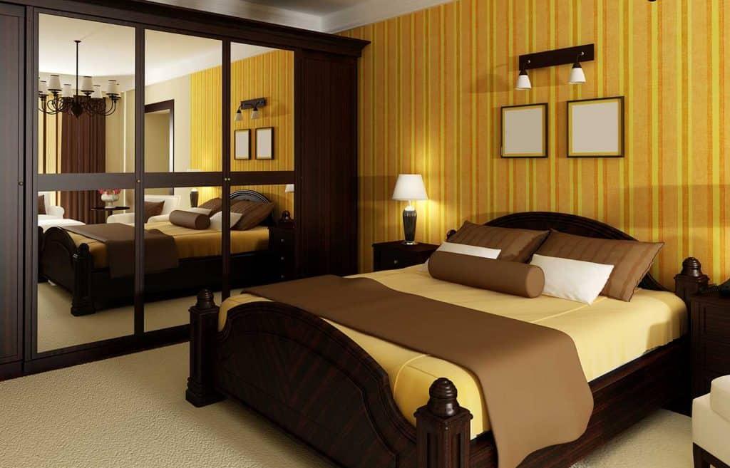 Classic hotel bedroom interior