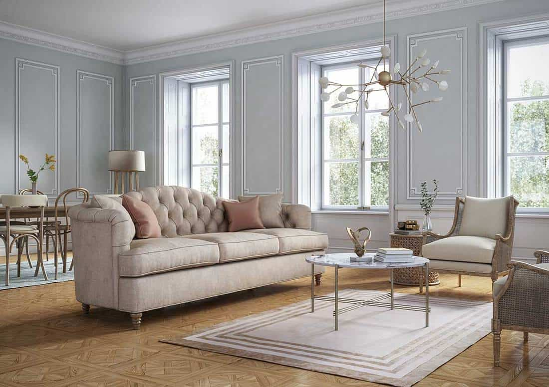 Classic style living room interior