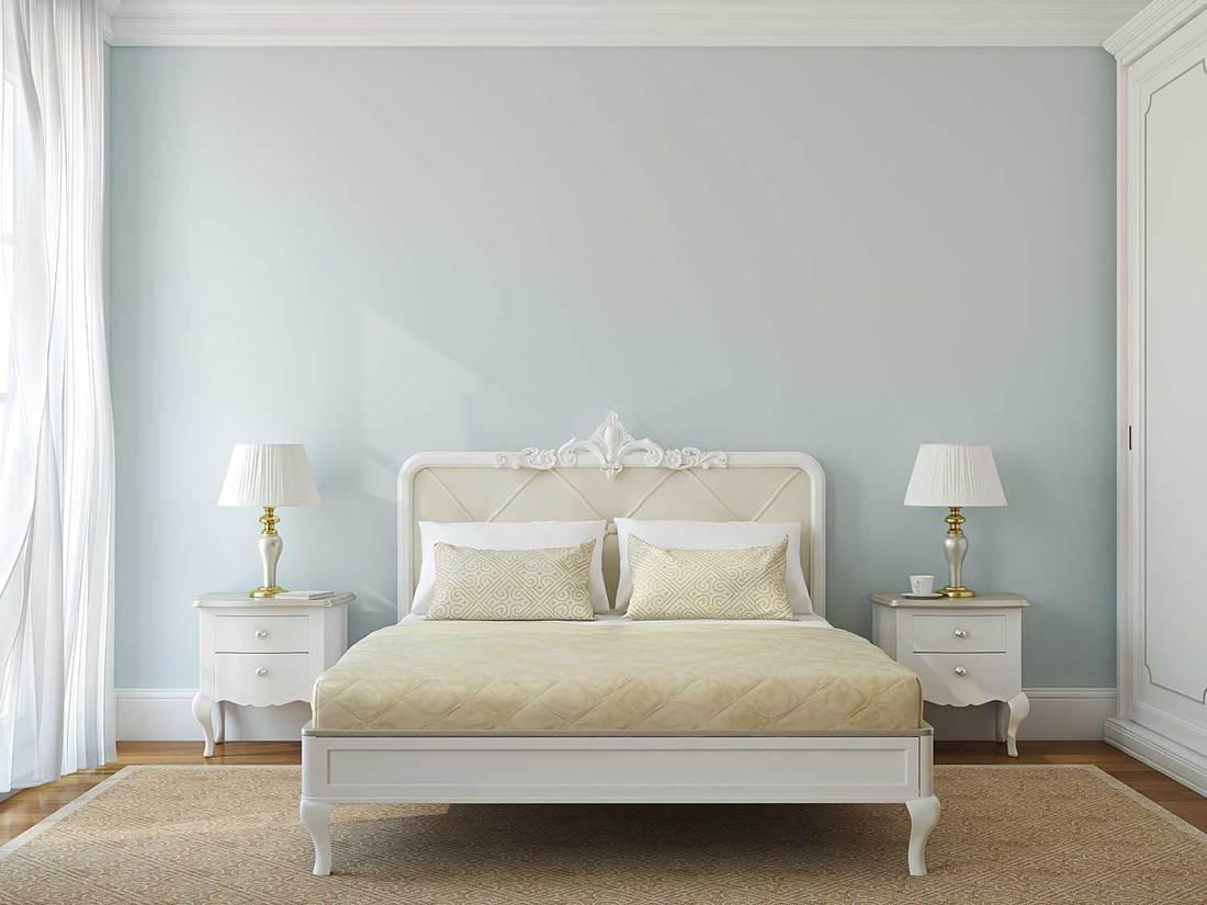 Classical bedroom interior