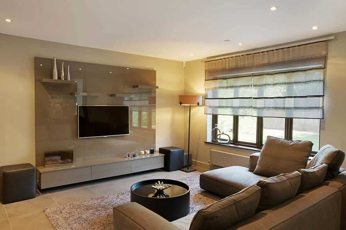 Cozy modern television room