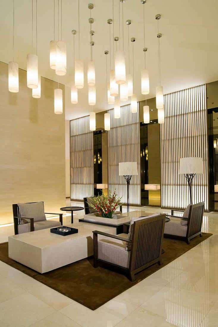 Elegant hotel lobby