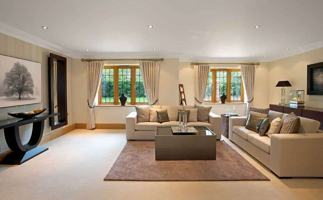 Large living room in a luxury home