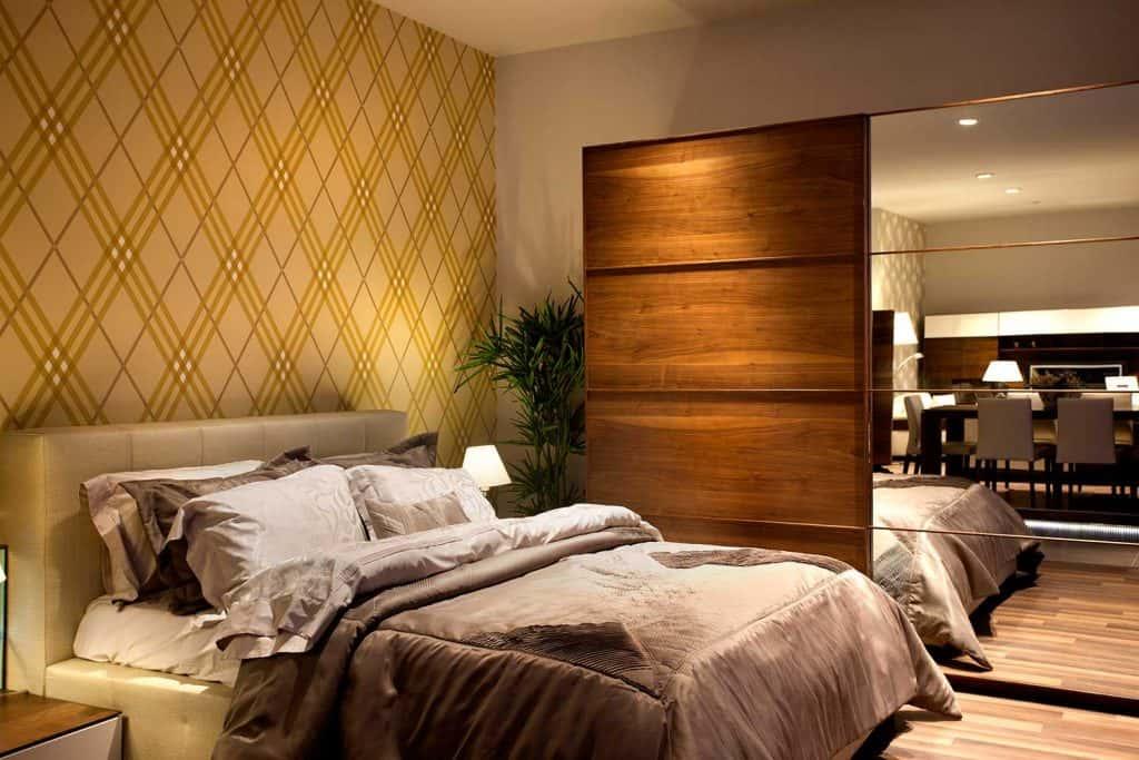 Luxury condominium bedroom