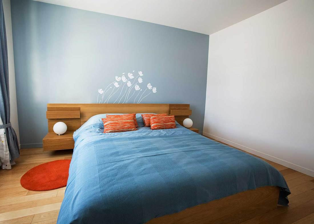 Minimalist designed summer bedroom