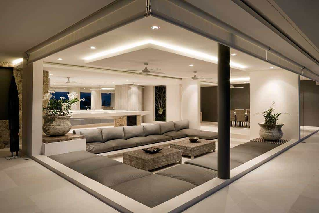 Modern villa living room