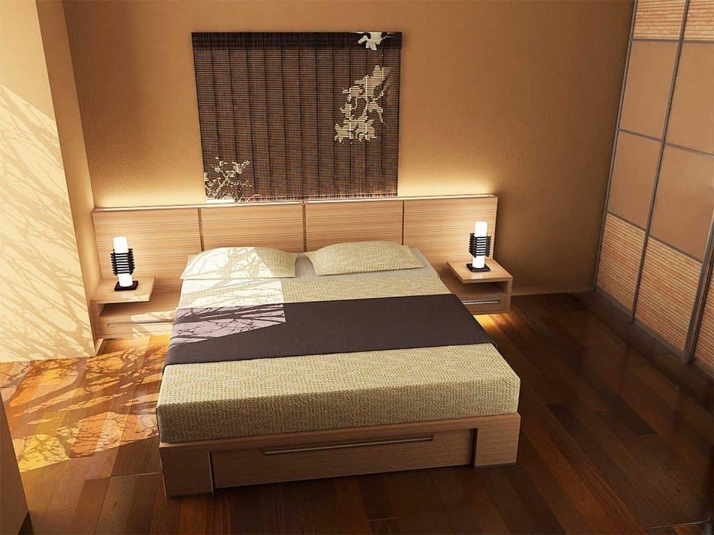 Oriental inspired bedroom design