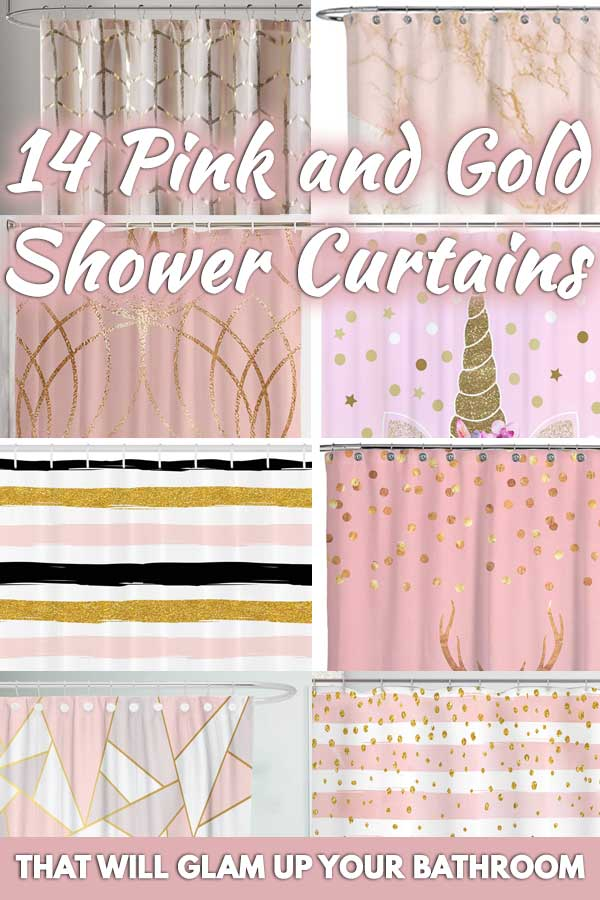 14 Pink and Gold Shower Curtains That Will Glam Up Your Bathroom