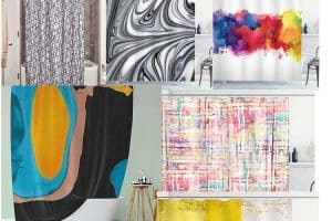 15 Unique Abstract Shower Curtains You Should Check Out