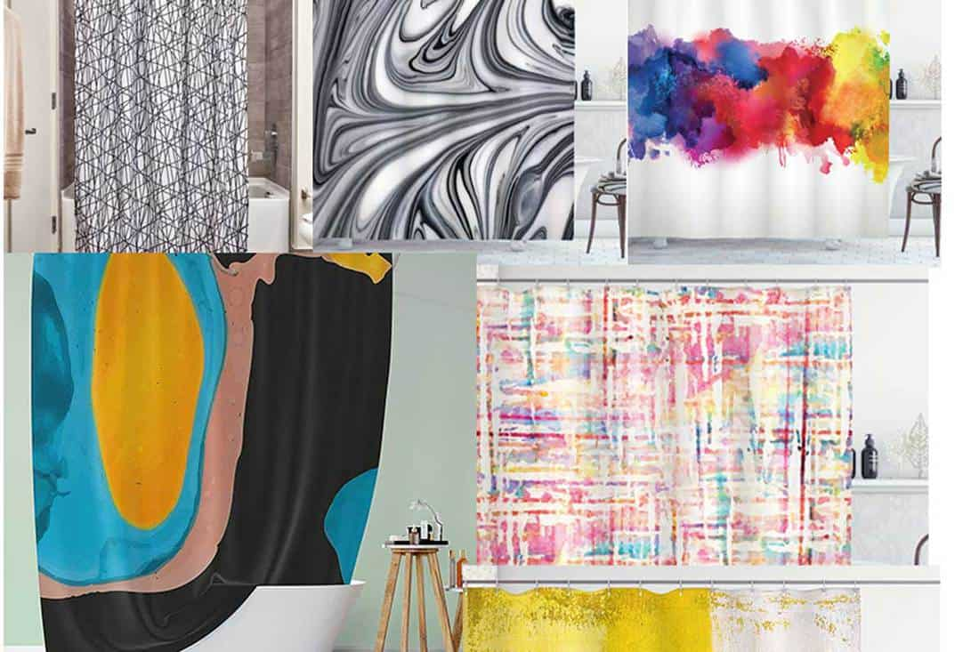 15 Unique Abstract Shower Curtains You Should Check Out Home Decor Bliss