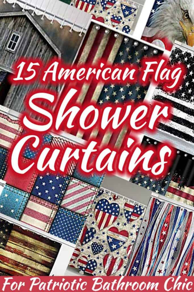 15 American Flag Shower Curtains For Patriotic Bathroom Chic