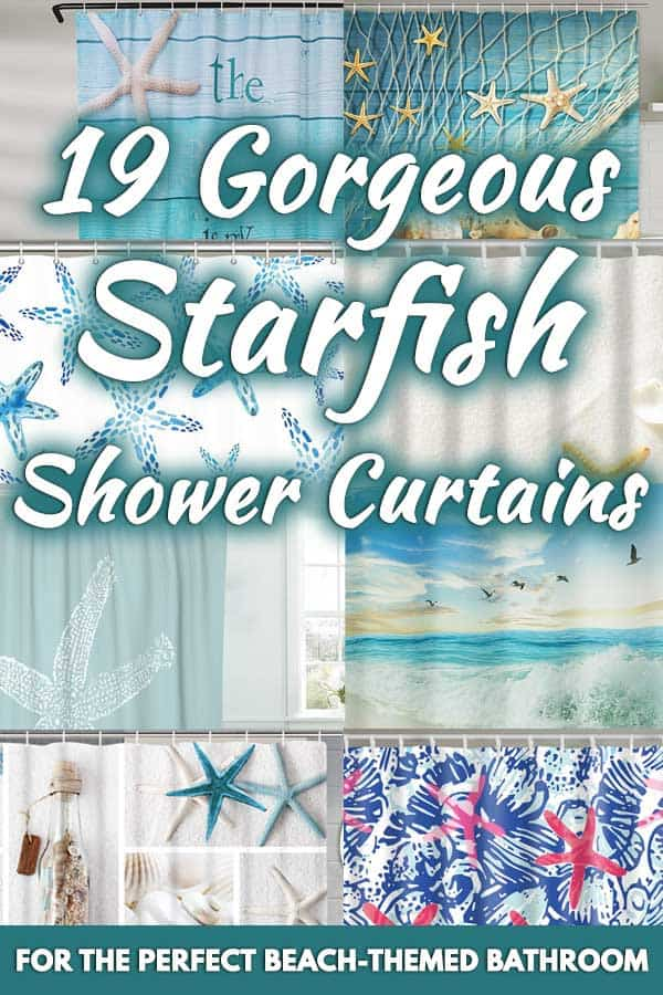 19 Gorgeous Starfish Shower Curtains For the Perfect Beach-Themed Bathroom
