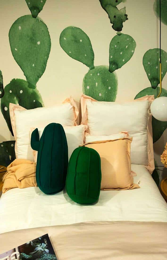 Cactus-themed bedroom
