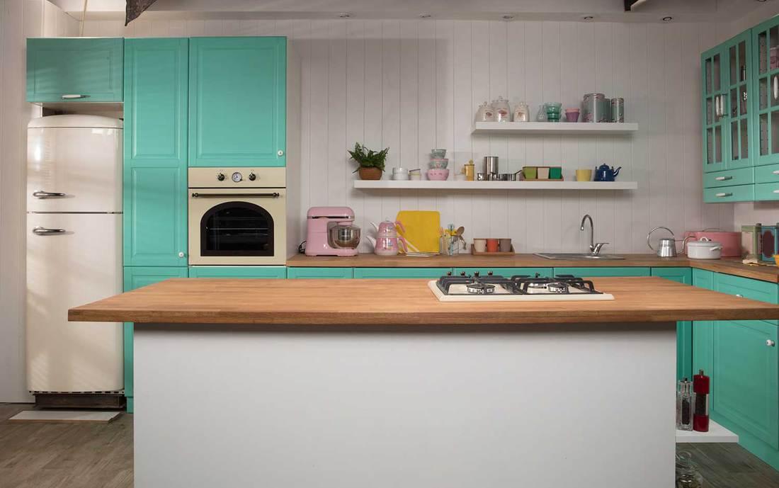 Classic wooden kitchen interior